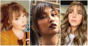 Textured Bangs: Slightly Different Type Of Bangs For Round Face