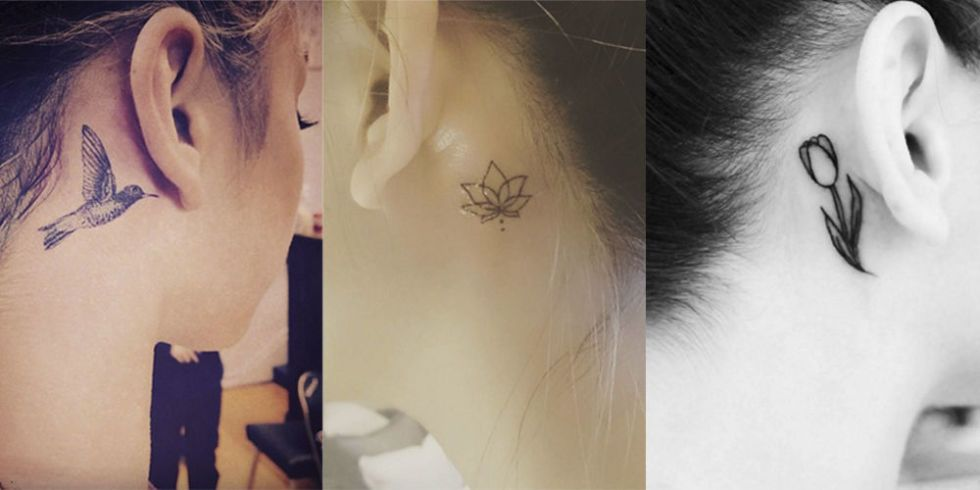 Behind The Ear Tattoos Design